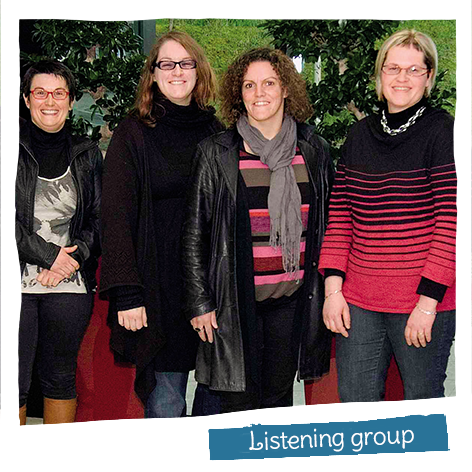 In 2013 we created a Listening group to support staff experiencing difficulties on either a personal or a professional level.